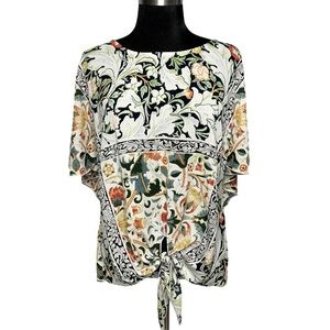 Alberto Makali Floral Print Knot-tie Sexy Back Top